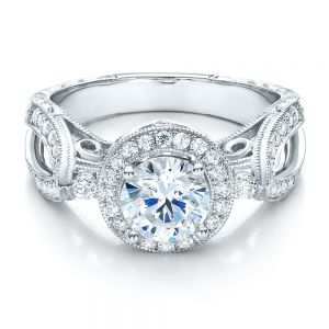 Split Shank Prong Set Engagement Ring - Vanna K