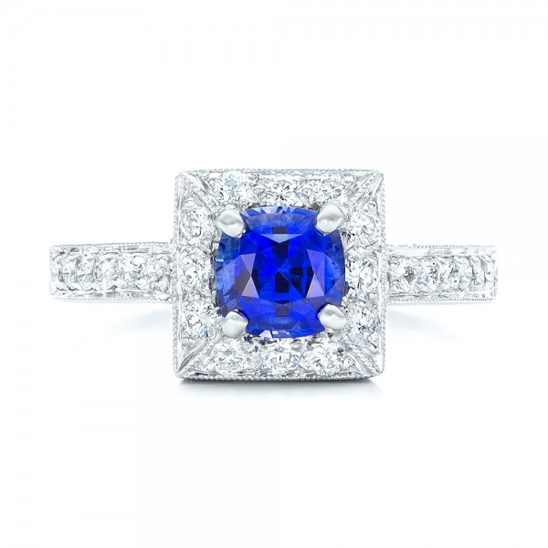 Square Halo Engagement Ring - Top View
