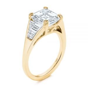 Step Cut Diamond Engagement Ring - Image