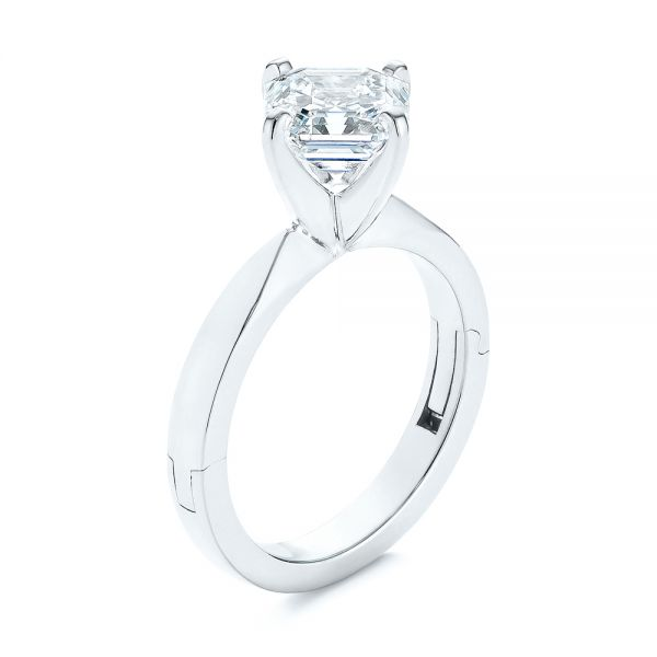 Super-Fit Solitaire Asscher Diamond Engagement Ring - Image