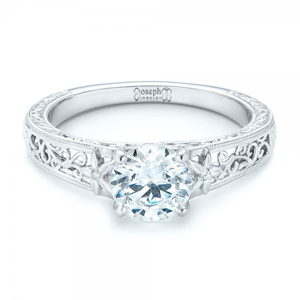 Vine Filigree Diamond Engagement Ring