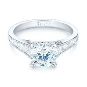Tapered Baguettes Diamond Engagement Ring