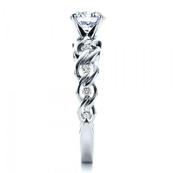 Diamond Engagement Ring - Vanna K - Side View