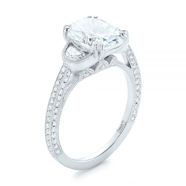 Three-Stone Diamond Engagement Ring - Image