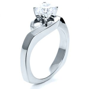 Three Stone Diamond Engagement Ring - Image