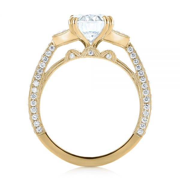 14k Yellow Gold 14k Yellow Gold Three-stone Diamond Engagement Ring - Front View -  103774