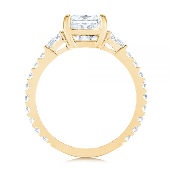 14k Yellow Gold 14k Yellow Gold Three Stone Diamond Engagement Ring - Front View -  105853