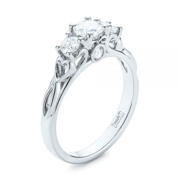 Three-Stone Diamond Infinity Engagement Ring - Image