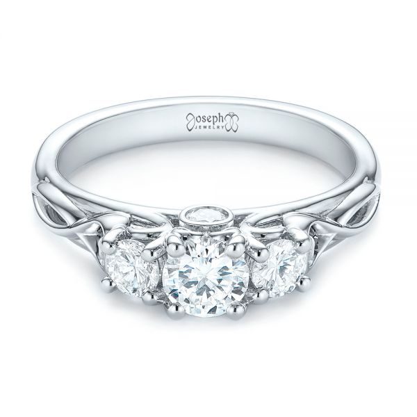 Three-Stone Diamond Infinity Engagement Ring