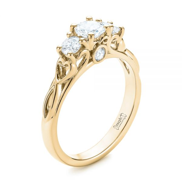 14k yellow gold three stone diamond infinity engagement. Black Bedroom Furniture Sets. Home Design Ideas
