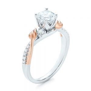 Three-Stone Two-Tone Diamond Engagement Ring
