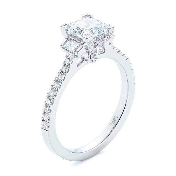 Three-stone Baguette Diamond Engagement Ring - Image