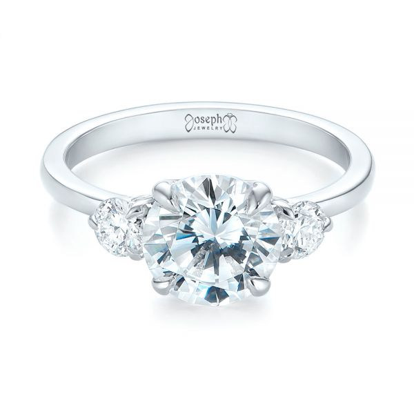 Three-stone Diamond Engagement Ring - Flat View -  104169 - Thumbnail