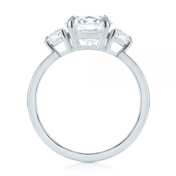 Three-stone Diamond Engagement Ring - Front View -  104169 - Thumbnail
