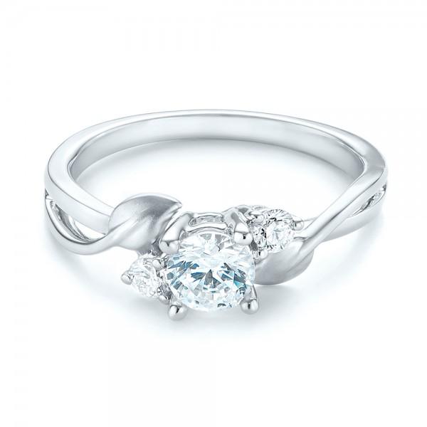 Three-stone Diamond Engagement Ring - Laying View