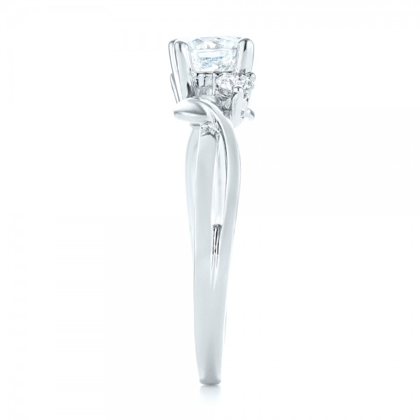 Three-stone Diamond Engagement Ring - Side View