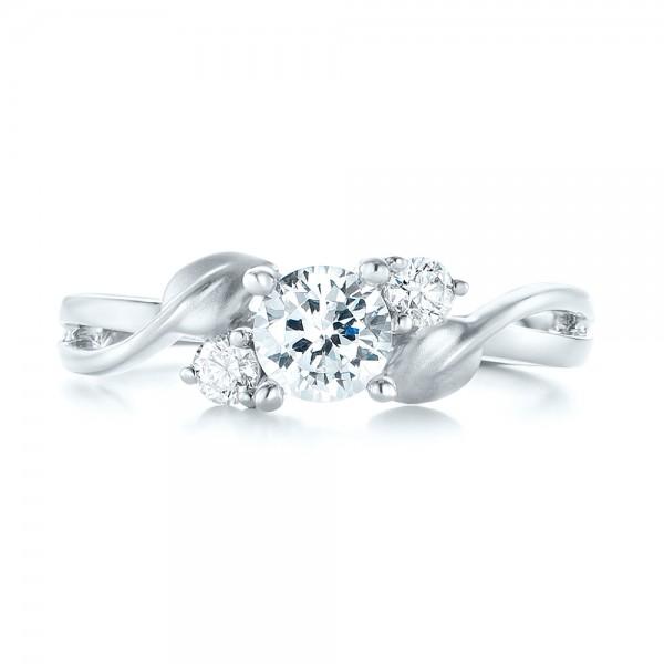 Three-stone Diamond Engagement Ring - Top View