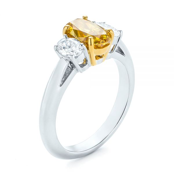Three-stone Oval Diamond Engagement Ring - Image