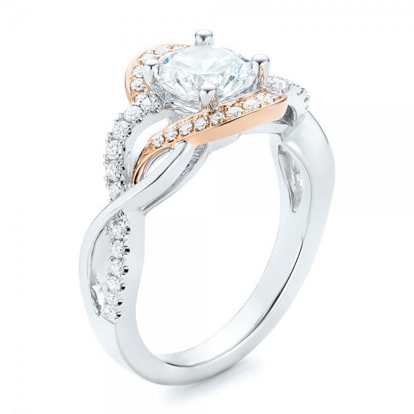 Twist Diamond Engagement Ring 102489