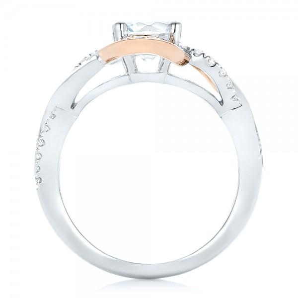 Twist Diamond Engagement Ring - Finger Through View