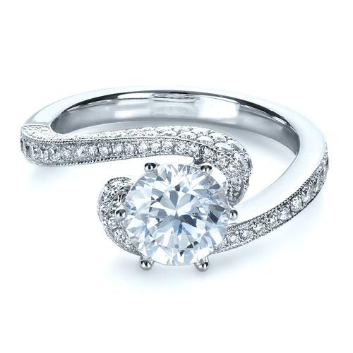 Twisting Shank Diamond Engagement Ring - Vanna K