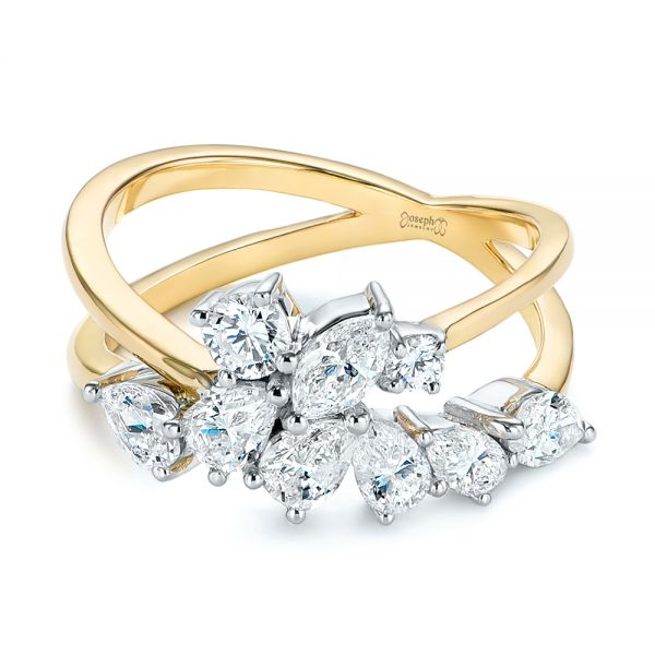 Two-Tone Cluster Diamond Ring