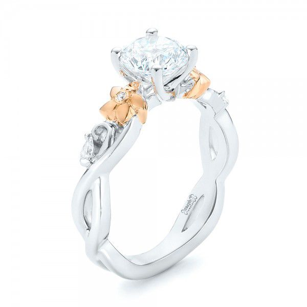 Two-Tone Diamond Engagement Ring