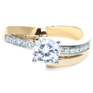 Two-Tone Gold Diamond Engagement Ring