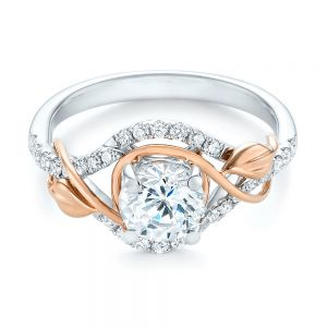 Two-Tone Wrap Diamond Engagement Ring