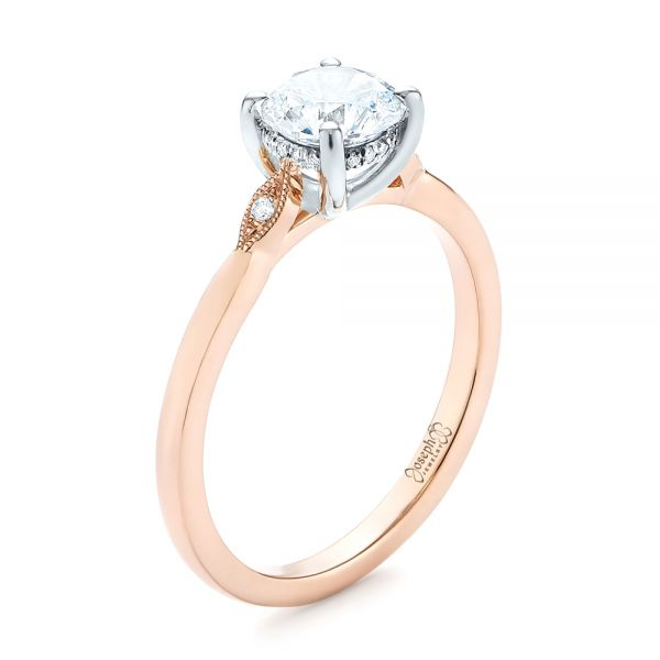 Two-tone Engagement Ring - Image