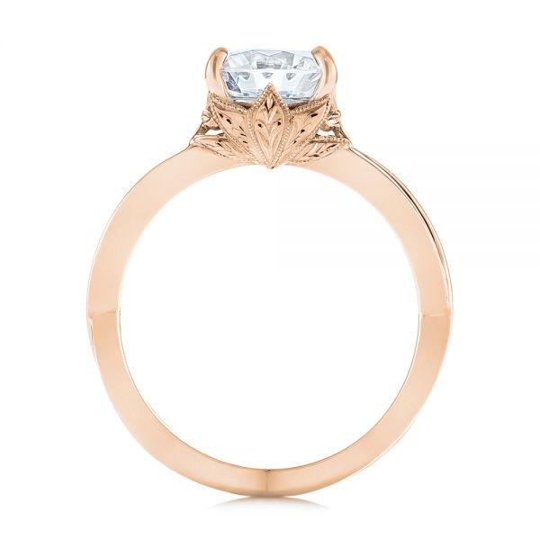 18k Rose Gold And 18K Gold 18k Rose Gold And 18K Gold Two-tone Solitaire Engagement Ring - Front View -  104019