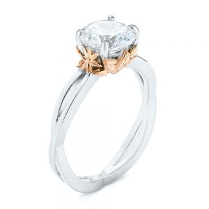 Two-tone Solitaire Engagement Ring