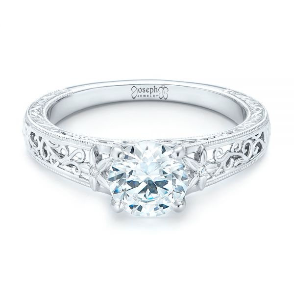 Vine Filigree Diamond Engagement Ring 102564 Seattle