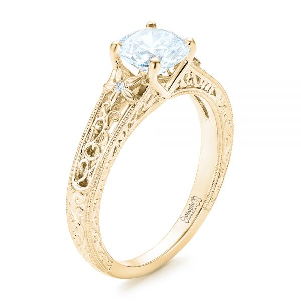 Vine Filigree Diamond Engagement Ring - Image