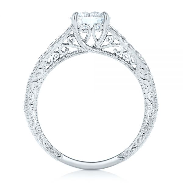 Vine Filigree Solitaire Diamond Engagement Ring - Front View -  102565 - Thumbnail