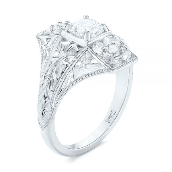 Vintage Style Diamond Engagement Ring - Image