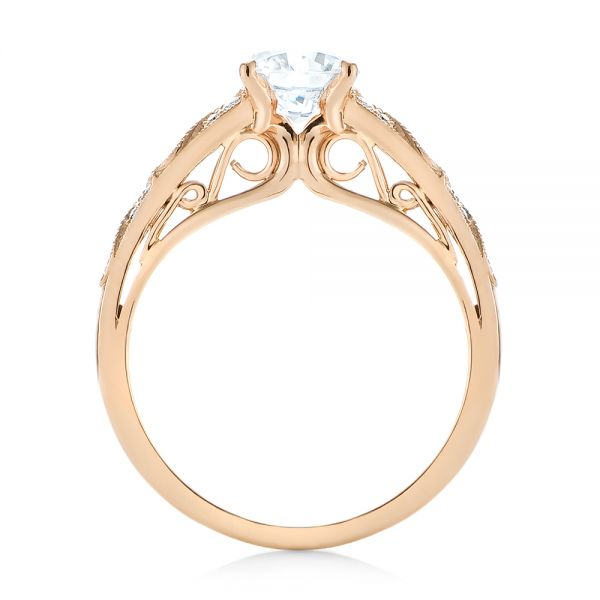 Vintage-inspired Diamond Engagement Ring - Front View -  103298 - Thumbnail