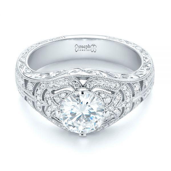 Vintage Inspired Wedding Rings: Vintage-inspired Diamond Engagement Ring #103511