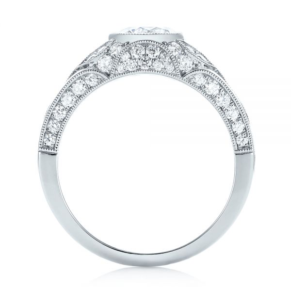 Vintage-inspired Diamond Engagement Ring - Front View -  103046 - Thumbnail