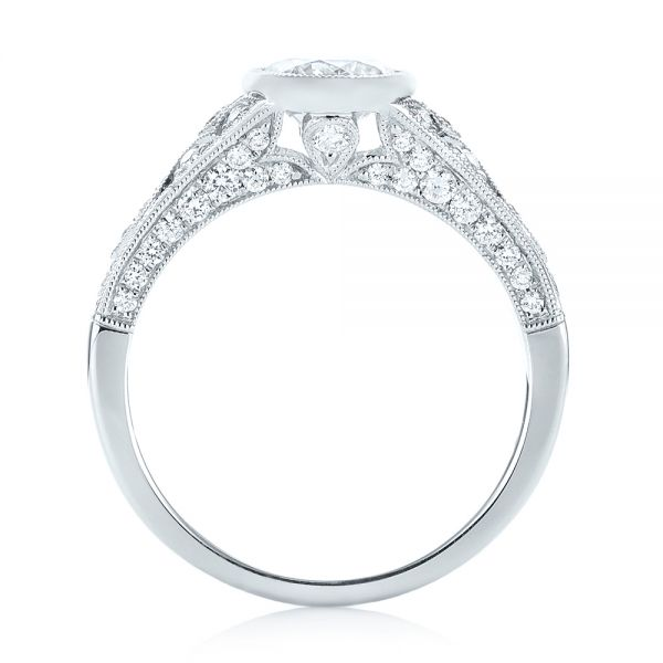 Vintage-inspired Diamond Engagement Ring - Front View -  103049 - Thumbnail