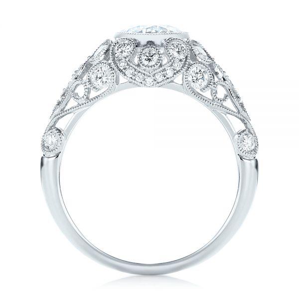 Vintage Inspired Diamond Engagement Ring 103062 Seattle