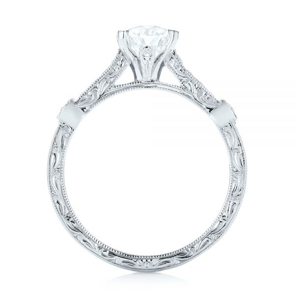 Vintage-inspired Diamond Engagement Ring - Front View -  103433 - Thumbnail