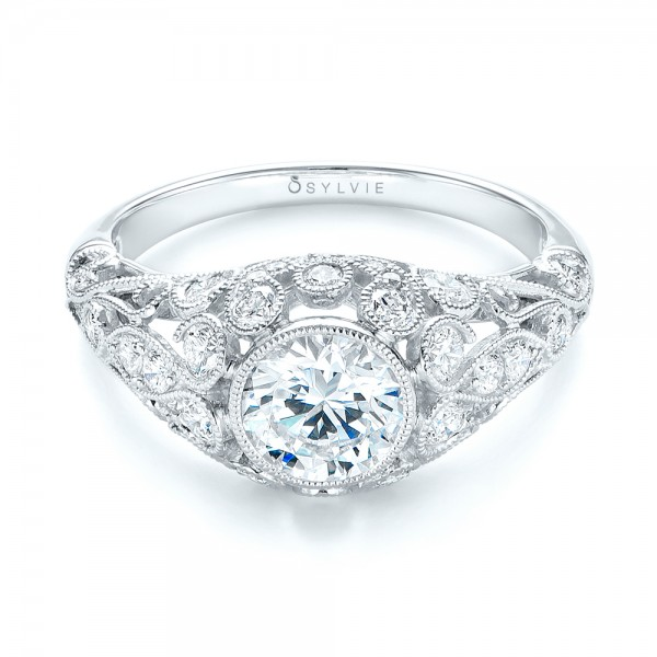 Vintage-inspired Diamond Engagement Ring