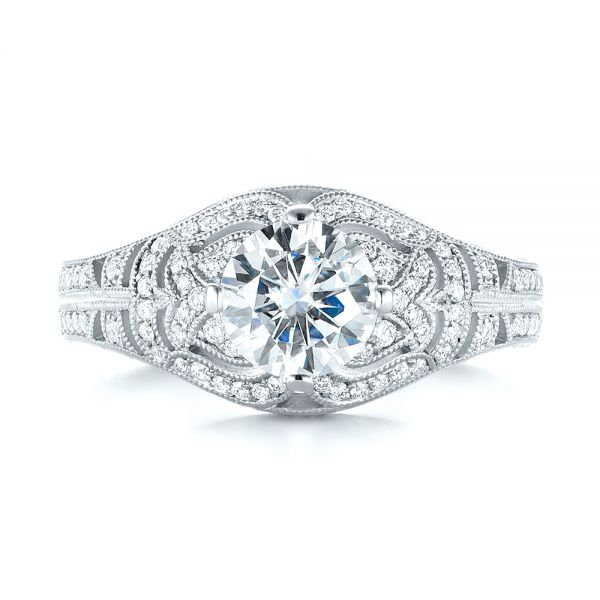 Vintage-inspired Diamond Engagement Ring #103511