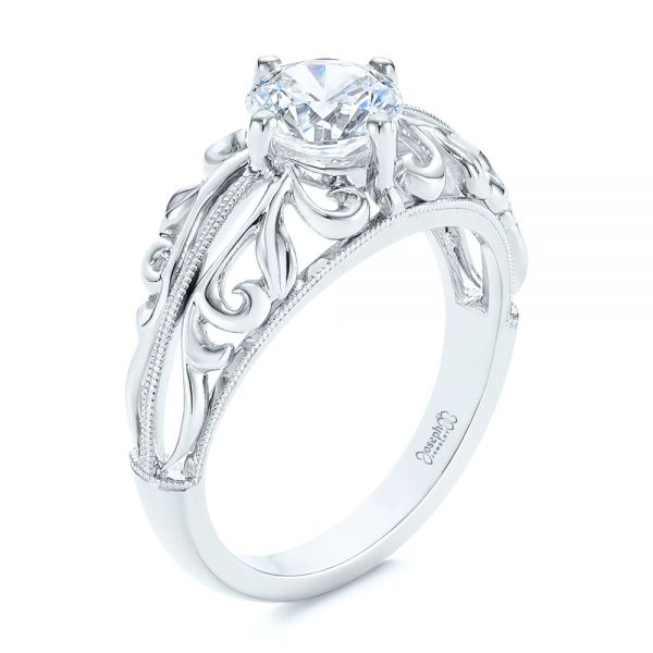 Vintage-inspired Filigree Diamond Engagement Ring - Image