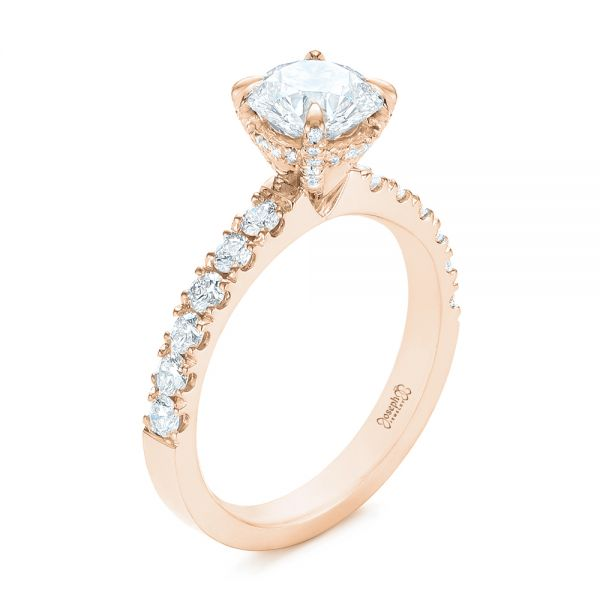 White Gold Classic Diamond Engagement Ring - Image