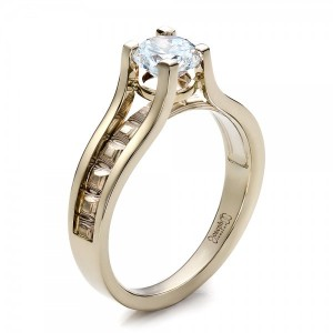 Women's Mokume Engagement Ring
