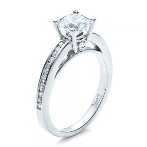 Women's Channel Set Engagement Ring - Image
