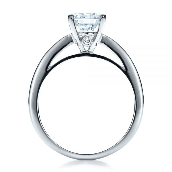 Women's Channel Set Engagement Ring - Front View -  1473 - Thumbnail