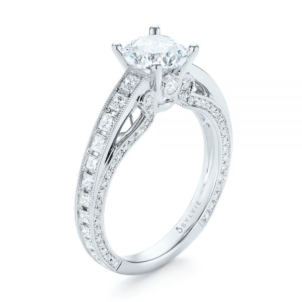 Women's Diamond Engagement Ring - Image